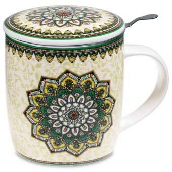 yogabox Conjunto de Mandala Taza de té Verde