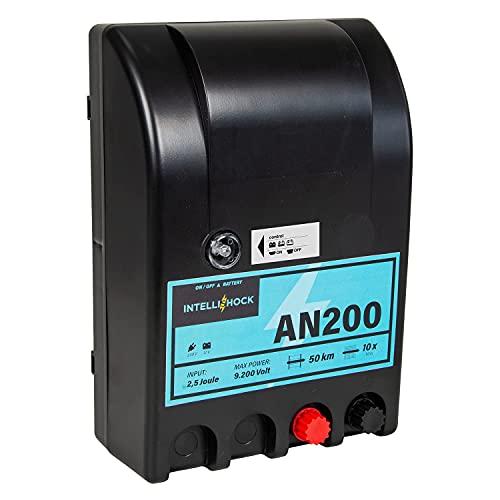 Intellishock AN200 - Electrificador de vallas para pastos, 12 V/230 V, para...
