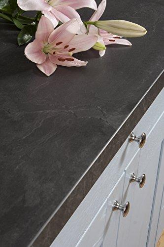 WORKTOPEXPRESS Schwarzer Schiefer - Resopal Küchenarbeitsplatten (4m × 600mm × 38mm)