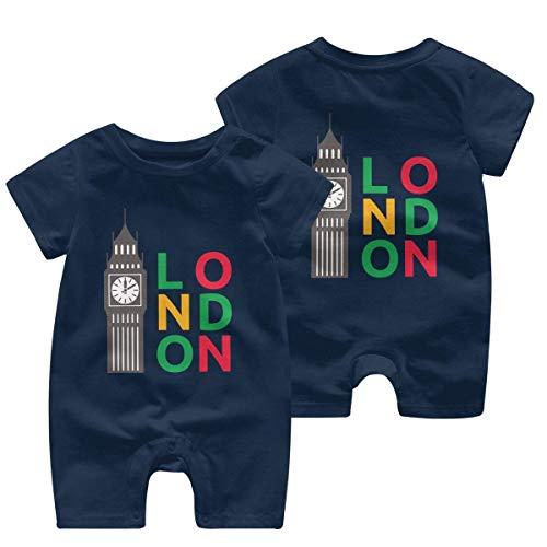 RROOT Big Ben Londen Peuter Baby korte mouw Bodysuit Jumpsuit 0-24 Maanden