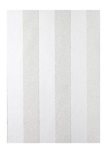 Tapete Vliesüberstreichbar Streifen weiß Patent Decor 3D 9436