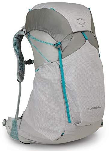 Osprey Hiking Lumina 60 Women's Ultralight Backpacking Backpack, Cyan Silver, Medium