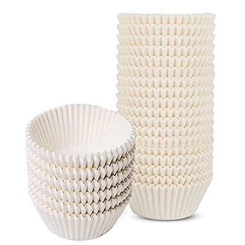 600PCS White Cupcake Paper, Small Cupcake Liners, Premium Muffin Liners, Baking Cups Cupcake Liners, Greaseproof Cupcake Liner, Easy to Peel off Muffin Cup, Top diameter: 2.2inch/5.5cm
