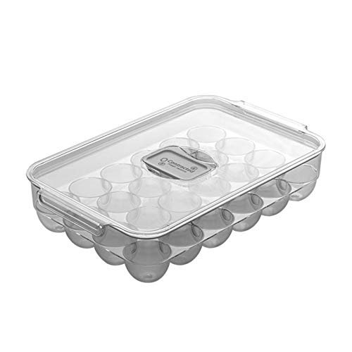 somubi Caja de almacenamiento de huevos transparentes tipo cajón para frigorífico, suministros de cocina caseros