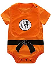 IURNXB Mameluco de Manga Corta de Algodón Anime para Cosplay Ropa de Bebé