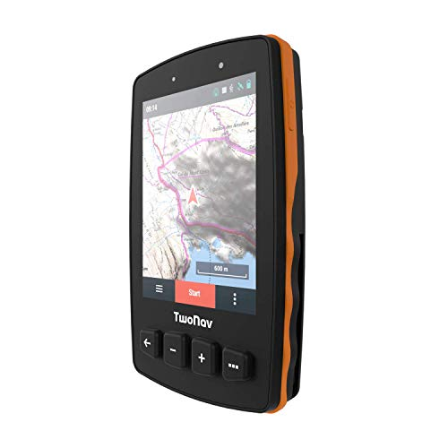 TwoNav - GPS Trail 2 - Escursionismo Trekking / 4 Pulsanti Frontali/Schermo 3,7' / Autonomia 20 h/Memoria 32 GB/Scheda SIM/Carta topografica Inclusa