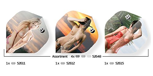 Unbekannt BULL'S Erotic Dart Flights Set A-Standard sexy Motive 75 Micron