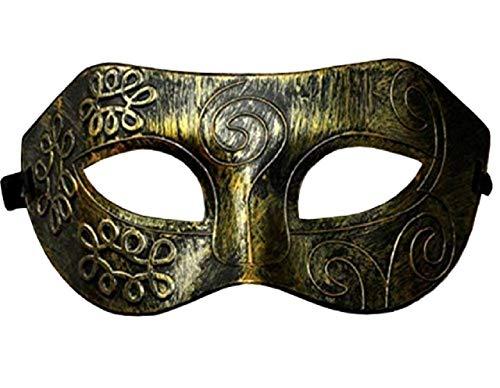 EVRYLON Venezianische Domino Maske antike Bronze esoterischer Flexibler metalleffekt