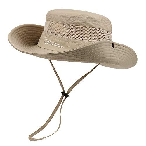 American Trends Wide Brim Sun Hat Women Boonies Hat Sport Beach Hat Foldable Bucket Hat Outdoor Begie