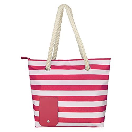 Strandtasche, Weintasche, Strandtasche, modische Handtasche mit verstecktem isoliertem Fach, für 2 Flaschen Wein