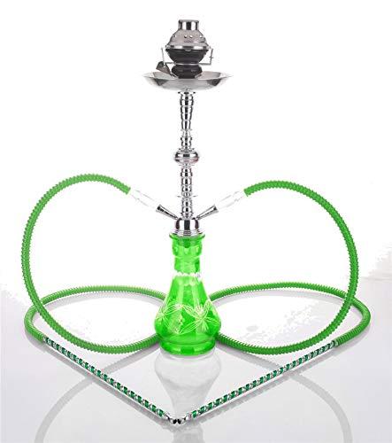 Hookah4sale 2-Hose Jericho - 2 mangueras de Cristal para jarrón de Agua de 23 Pulgadas, Color Verde