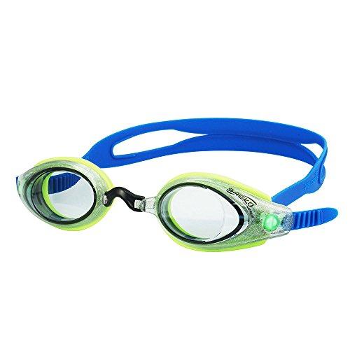 Saeko S57Sprint serie bajo perfil Racing gafas, Ultra antiniebla & UV Protected calidad óptica lentes de policarbonato, Trans/Green