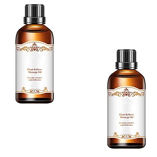 Suero de eliminación de cicatrices, aceite esencial de rosa linfático orgánico esencial, crema de reparación de la piel para quemaduras de cicatrices de acné, para masajes de spa (2pcs)