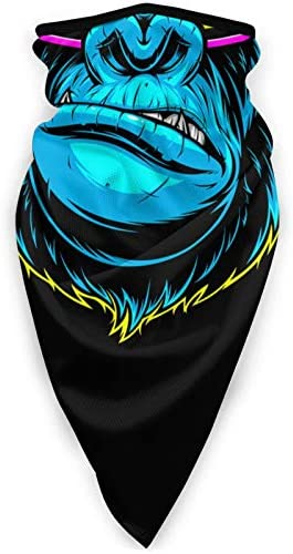 Gorilla with Music Headphones Face Mask Windproof Tube Mask Headwear for Out Riding Motorcycle product image