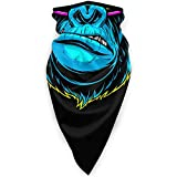 Gorilla with Music Headphones Face Mask Windproof Tube Mask Headwear for Out Riding Motorcycle Bicycle