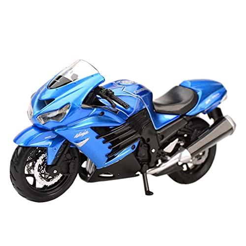 DZYWL Modelos De Escala De Simulación para Kawasaki Ninja ZX 14R 1:18 Simulación Estática De Fundición A Presión Modelo De Motocicleta Decoración De Juguete Año Nuevo Cumpleaños