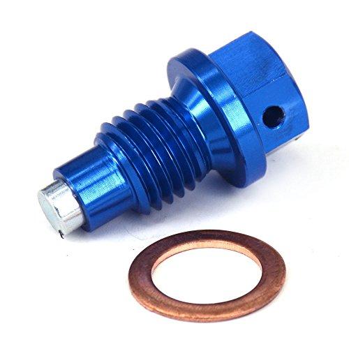 Fast Pro Schnell Pro CNC Billet-Aluminium Magnetische Ölablassschraube Bolt für Kawasaki 12R zrx1200daeg ZRX1200R ZRX1200S ZZR1200zx-14zx-14r blau