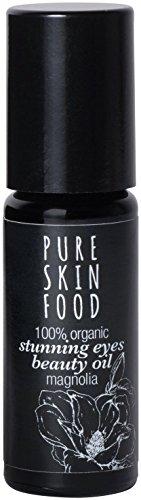 Bio Stunning Eyes Beauty Öl für die Augenpartie von PURE SKIN FOOD | reduziert Augenringe, Schwellungen & Fältchen | 100% bio-zertifizierte Inhaltsstoffe & vegan | 10 ml