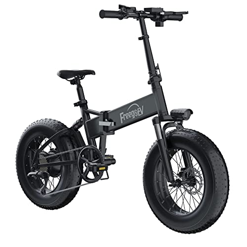 1000W Electric Bike for Adults, 20 inch 4.0″ Fat Tire Ebikes Foldable 48V 10.4A Lithium Battery Ebike Mountain Beach Snow Electric Bicycle Dual Shock Suspension 7 Speed (1000W)