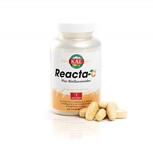 Kal Reacta C Plus Vioflavonoïdes - Bote de 60 comprimidos, energizante y vitaminante, 500mg