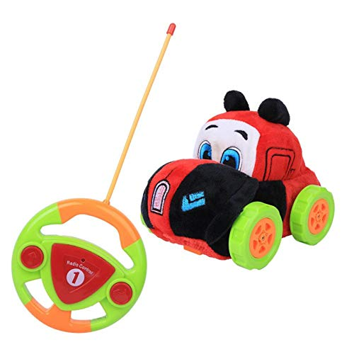DAUERHAFT Coche de Juguete de Control Remoto Sistema de Control Remoto Incorporado Mini Coche diseñado para la Competencia al Aire Libre Adecuado para Que jueguen los niños(Red)