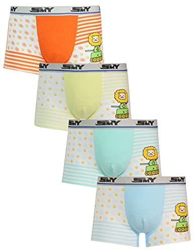 Boys Boxer Briefs Cotton Toddler Underwear Breathable Comfort Soft Waistband Boxer Briefs