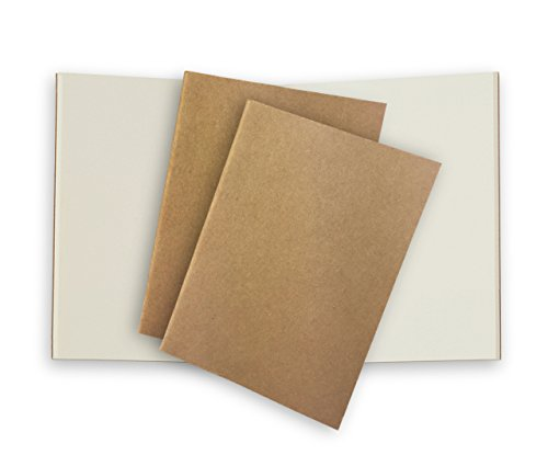 Plain Pocket Travelers Notebook Journal Paper Refills 3 Pack Cream Unlined Inserts for Small Passport Refillable Leather Travel Journals - 5 x 3.65. Soft Cover Thick Spare Grid Paper TN Travel Diary