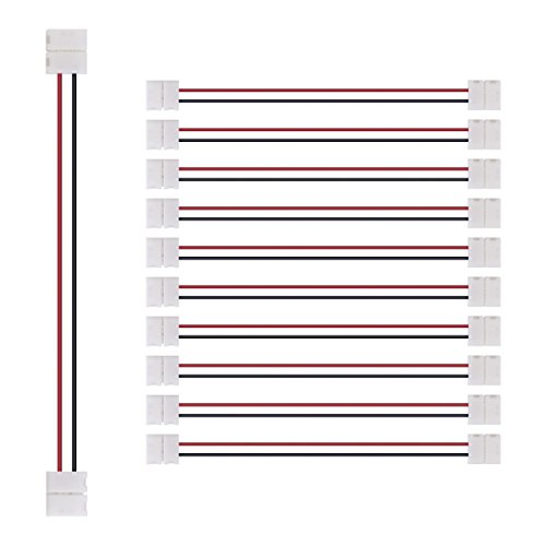 Preisvergleich Produktbild kwmobile 10 x 5050 LED Strip Bänder Verbinder Adapter Connector Verbindungskabel für einfarbige LED Bänder