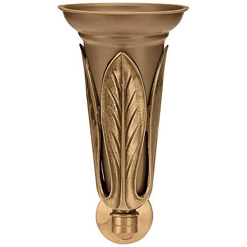 con Interior pl/ástico AmazinGrave En Bronce a Pared 1152-P26 Vaso florero 30x14cm Jarrones floreros de Pared en Bronce para l/ápidas y tumbas
