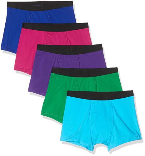 find. Herren Shorts aus Baumwolle, Mehrfarbig (Neon blue/Neon Pink/Neon Purple/Neon Scuba/Green), L ,5er Pack