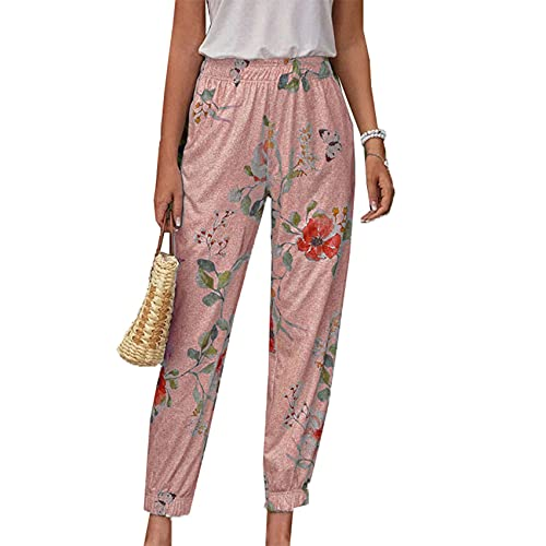 WJANYHN Moda para Mujer OtoñO Invierno Impreso Harem Pantalones Pantalones Casuales Pantalones Largos
