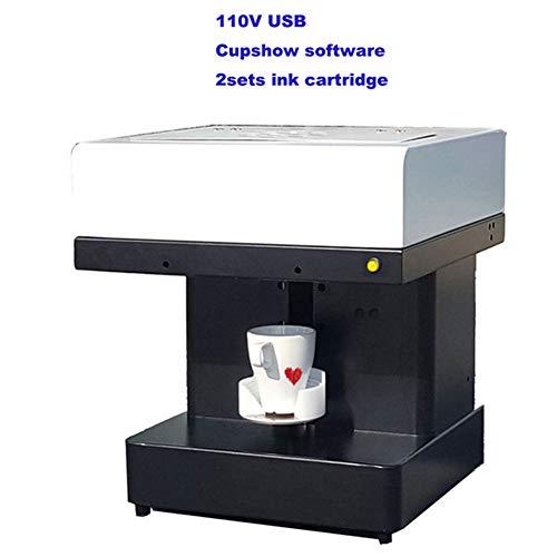 Impresora De Arte De Café con Leche Máquina De Impresión De Café con Leche Impresora De Cafetera Inteligente 1 Taza De Transferencia para Pastelería De Café Galletas De Yogur DIY(Size:110V)