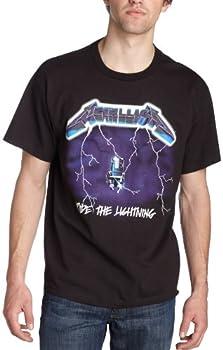 Bravado Men s Metallica- Ride Lightning T-Shirt,Black,X-Large