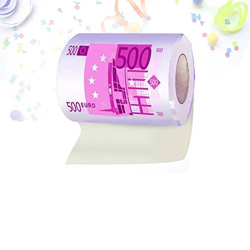 Klopapierrolle mit 500-Euro-Schein-Motiv