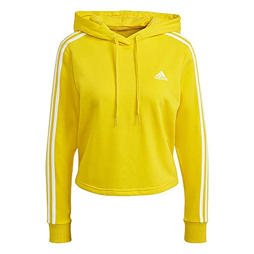 adidas GM5586 W 3S FT CRO HD Sweat Womens Yellow/White XS