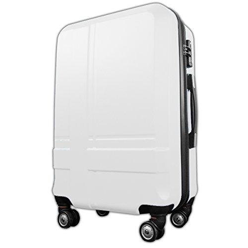 アウトレット スーツケース 機内持ち込み可 キャリーケース 小型1-3日用 Sサイズ 8輪 キャリーバッグ クロス ホワイト
