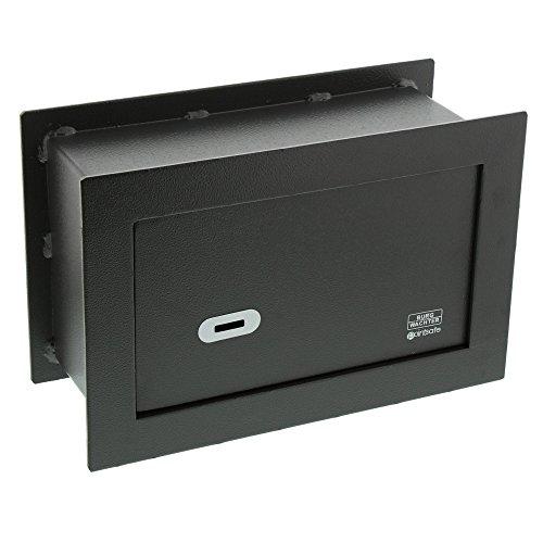 BURG-WÄCHTER Wandtresor mit Schlüssel, Point-Safe, zum Einmauern, 4,5 l, 9,4 kg, PW 2 S, Schwarz