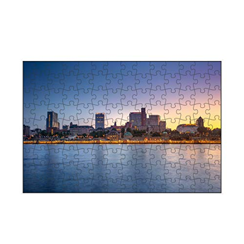 artboxONE-Puzzle S (112 Teile) Städte / Hamburg Skyline Hamburg Zwei - Puzzle Hamburg Hafen Hamburg