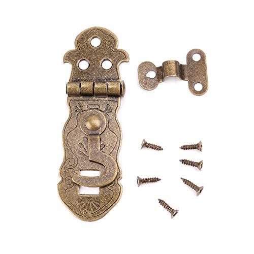 Bronzefarbener Holzkisten-Knebelschloss, Vintage-Metallschnalle, antiker Schnappverschluss