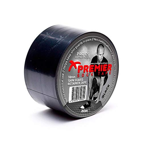 Premier Sock Tape Cinta Premier Sock Tape 20 mts Negro Talla UNICA