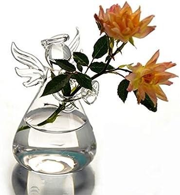 Amazon.com: kangkang @ Ángel Flor vidrio Transparente de ...