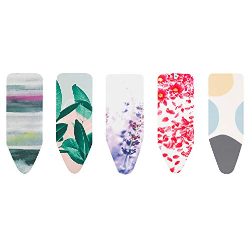 Brabantia Bright Ironing Board Cover with 4mm foam, L 124 x W 45 cm, Size C, Assorted Colours