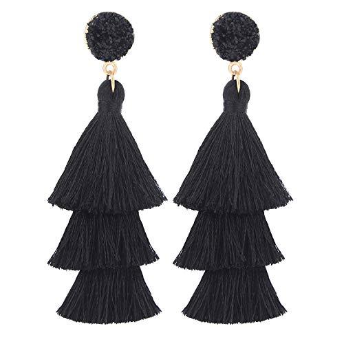 LEGITTA Tassel Earrings Layered Tiered Linear Drop Fashion Trending...