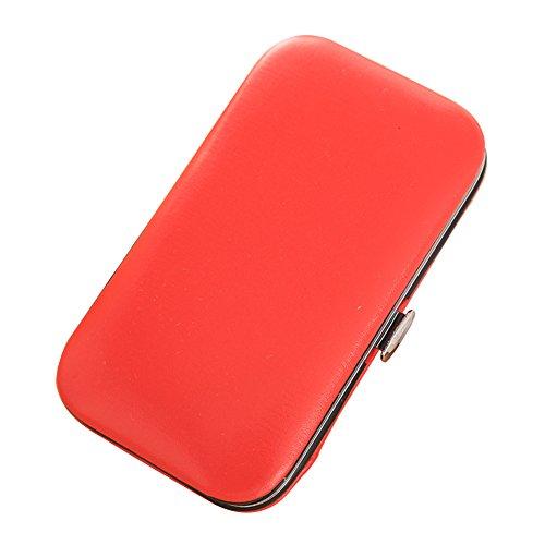 DaoRier Nagelknipser Set Maniküreset 6 -Teilig Reine Farbe Lederbox Nagelscheren Nagelpflege Pediküre Nagelknipser Set size 10*5.5cm