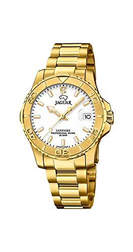 JAGUAR Reloj Modelo J898/3 de la colección Woman, Caja de 34 mm Blanco con Correa de armys Chapado para señora