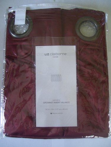 "LIZ CLAIBORNE Home Kathryn Grommet Insert Valance, Russet, 50"" x 18"""