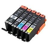 5x originale canon setup cartucce 5 serie set per stampante con chip pgi-550 cli-551 di stampa pixma ip7200 ip7250 ip8700 ip8750 ix6850 mg5400 mg5420 mg5450 mg5450s mg5500 mg5550 mg5600 mg5650 mg5655