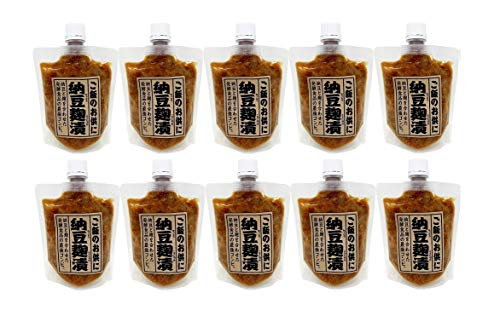 マルシン 納豆麹漬 200g × 10パック 国産大豆使用 業務用 納豆と麹を合わせた発酵食品の最強コンビ 納豆こうじづけ