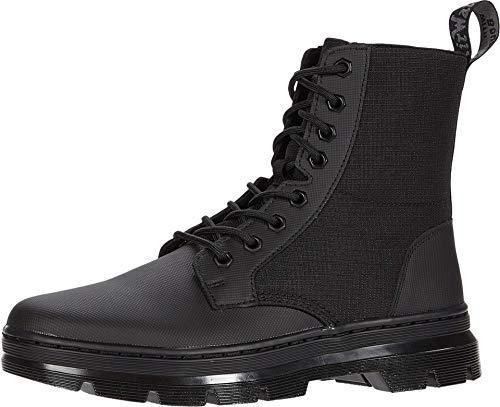 Dr. Martens Unisex Lace Fashion Boot, Black Element & Black Poly Rip Stop, 11 US Men