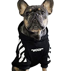 ChoChoCho Woof Dog Hoodie Pet Clothes Stylish Streetwear Cotton Sweatshirt Fashion Outfit for Dogs Cats Puppy Small Medium Large